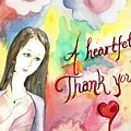 A Heartful Thank You by Amadrys Art
