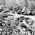 A Hiker's View - Landscape Print by Kelli Swan