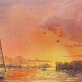A Hingham Sunset by Laura Lee Zanghetti