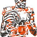 A J Green Cincinnati Bengals Pixel Art 5 by Joe Hamilton