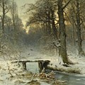 A January Evening In The Woods by Movie Poster Prints