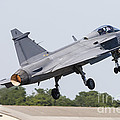 A Jas-39 Gripen Of The Swedish Air by Rob Edgcumbe
