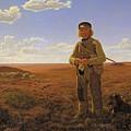 A Jutland Sheperd On The Moors by Frederik Vermehren