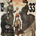 A La Tour St.jacques - Rue De Rivoli - Vintage Fashion Advertising Poster - Paris, France by Studio Grafiikka