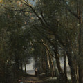 A Lane Through The Trees by Jean-Baptiste-Camille Corot