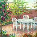 A Little Spring Patio  by Nancy Heindl