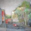 A London Street by Alfredo DeCurtis