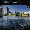 A Look At The Chicago Skyline From Under The Roosevelt Road Bridge  by Sven Brogren
