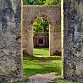 A Look Through Chapel Of Ease St. Helena Island Beaufort Sc by Lisa Wooten