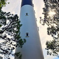 A Look Up Hunting Island Lighthouse Beaufort Sc by Lisa Wooten