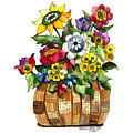 A Lovely Basket Of Flowers by Shelley Wallace Ylst