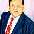A M Naik Portrait by Mohamad Ali