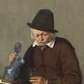 A Man Holding A Tankard And A Glass by Adriaen van Ostade