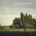 A Meadow Bordered By Trees by Theodore Rousseau