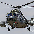A Mil Mi-17 Helicopter Of The Czech Air by Timm Ziegenthaler
