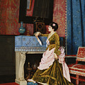 A Moments Reflection by Auguste Toulmouche