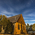 A Moonlit Nightscape Of The Historic by Alan Dyer