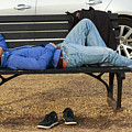 A Nap In The Park by Travis Rogers