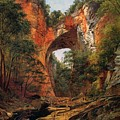 A Natural Bridge In Virginia by David Johnson