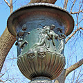 A Navy Yard Urn In Lafayette Square -- West by Cora Wandel
