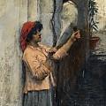 A Neapolitan Flax Spinner John William Waterhouse by Eloisa Mannion