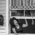 A New Orleans Greeting Bw by Steve Harrington