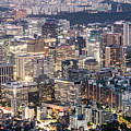 A Night View Of Seoul Business District by Didier Marti