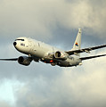 A P-8a Poseidon In Flight by Stocktrek Images
