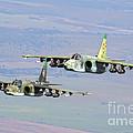 A Pair Of Bulgarian Air Force Sukhoi by Daniele Faccioli