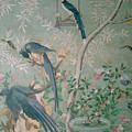 A Pair Of Magpie Jays  Vintage Wallpaper by John James Audubon
