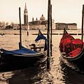A Pair Of Venetian Gondolas by Wolfgang Stocker