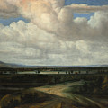 A Panoramic Landscape With A Country Estate by Philips Koninck