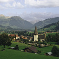 A Pastoral View Of A Village by James P. Blair