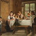 A Peasant Family At Their Meal With A Crying Boy by MotionAge Designs