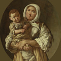 A Peasant Mother With Her Child In Her Arms by Giacomo Ceruti