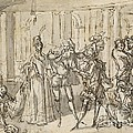 A Performance By The Commedia Dell'arte by Claude Gillot