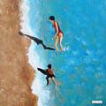 A Piece Of The Beach - Orange Swim by Jacqueline Hammond