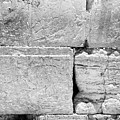A Piece Of The Wailing Wall In Black And White by Yoel Koskas