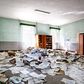 A Pile Of Knowledge - Abandoned School Building by Dirk Ercken