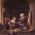 A Poulterer Shop by Dou Gerrit