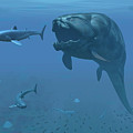 A Prehistoric Dunkleosteus Fish by Walter Myers
