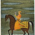A Prince Riding In A Landscape by Eastern Accents