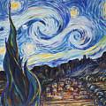 A Pueblo Starry Night by M Schaefer