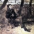 A Pushkin On A Garden Bench 1899 Valentin Serov by Eloisa Mannion