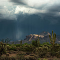 A Rainy Evening In The Superstitions  by Saija Lehtonen
