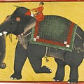 A Raja Riding A Bull Elephant by Eastern Accents