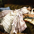 A Reclining Beauty by Auguste Toulmouche