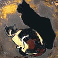 A Replica Of The Cats By Theophile Alexandre Steinlen by Pemaro