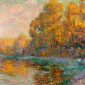 A River In Autumn by Gustave Loiseau