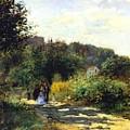 A Road In Louveciennes by Renoir PierreAuguste